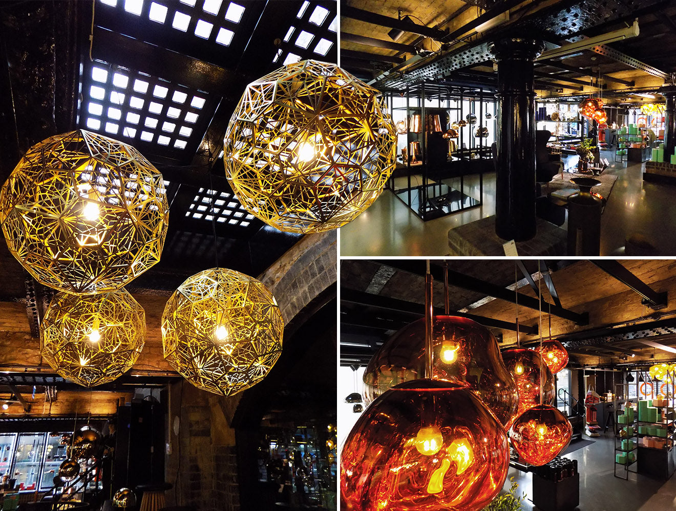 Tom Dixon Etch Web Brass London Store