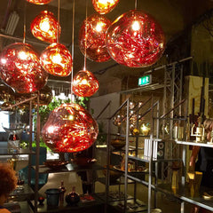 Tom dixon melt pendant lighting copper