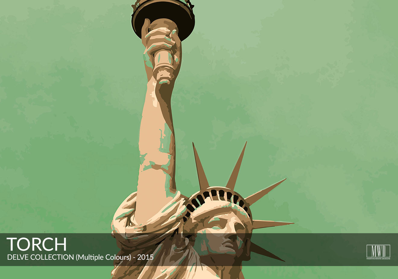 Modern Statue of Liberty Art Print Martyn White Designs Portfolio