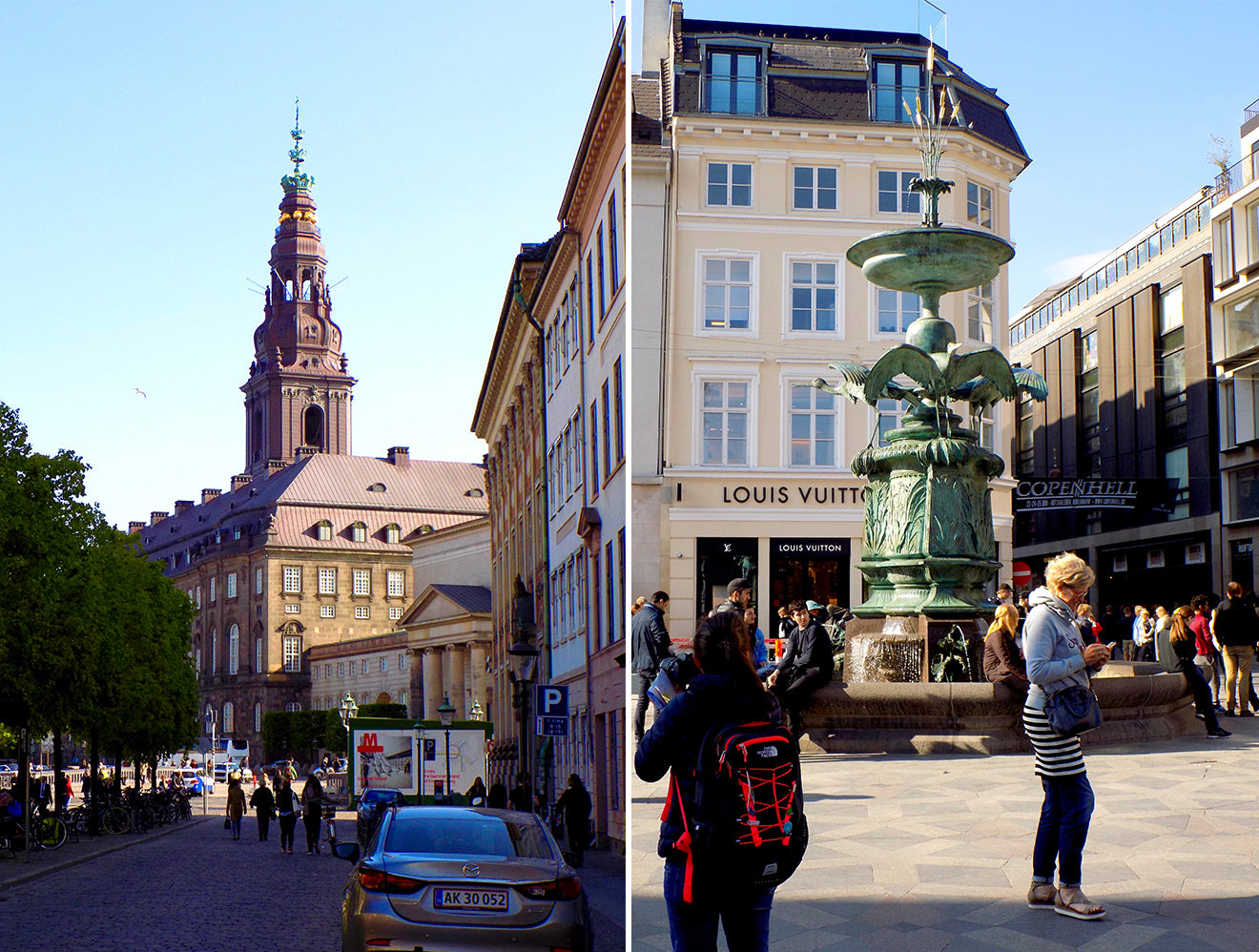 Classic architecture and fountains of Copenhagen