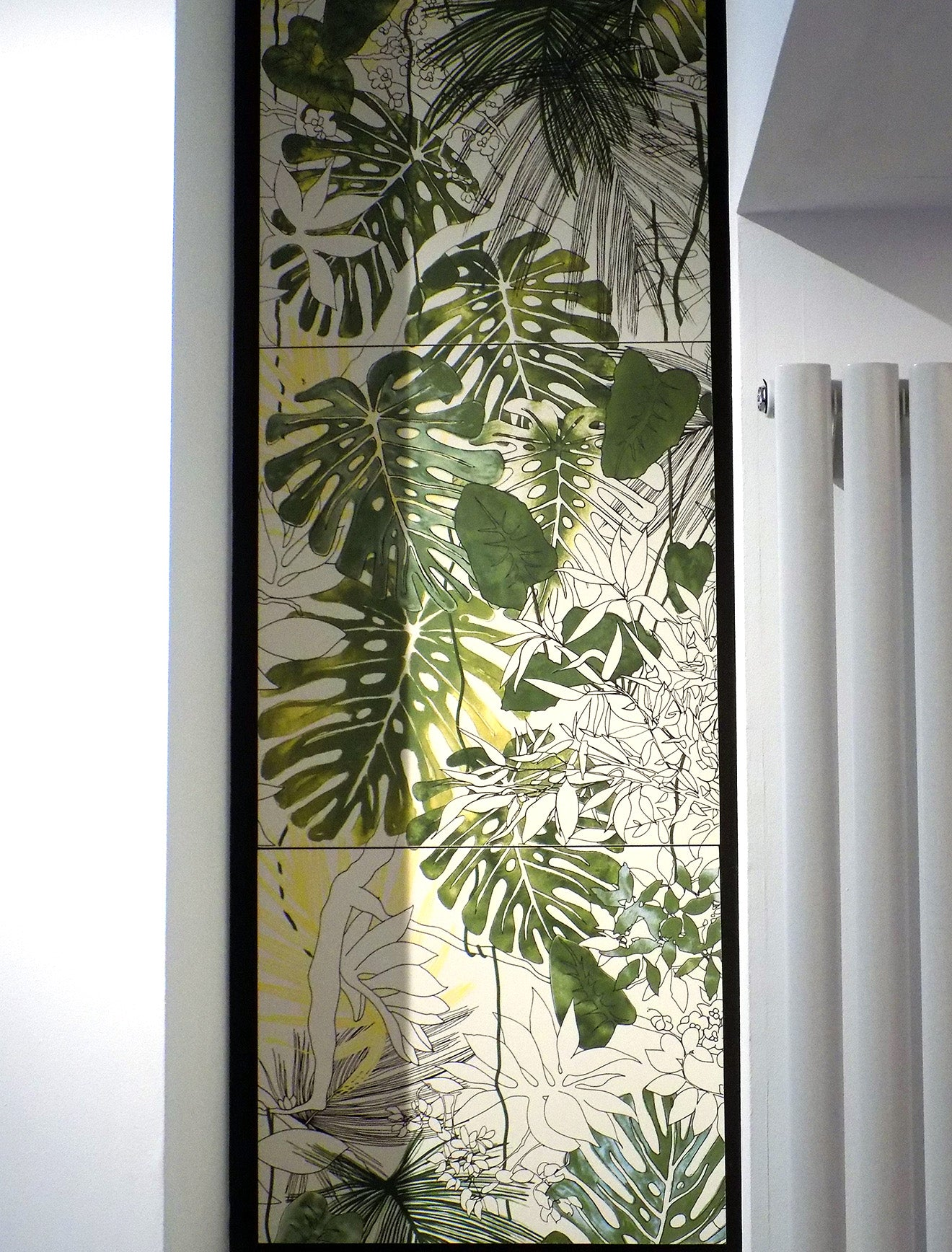 Tropical print tiles at Reed Harris