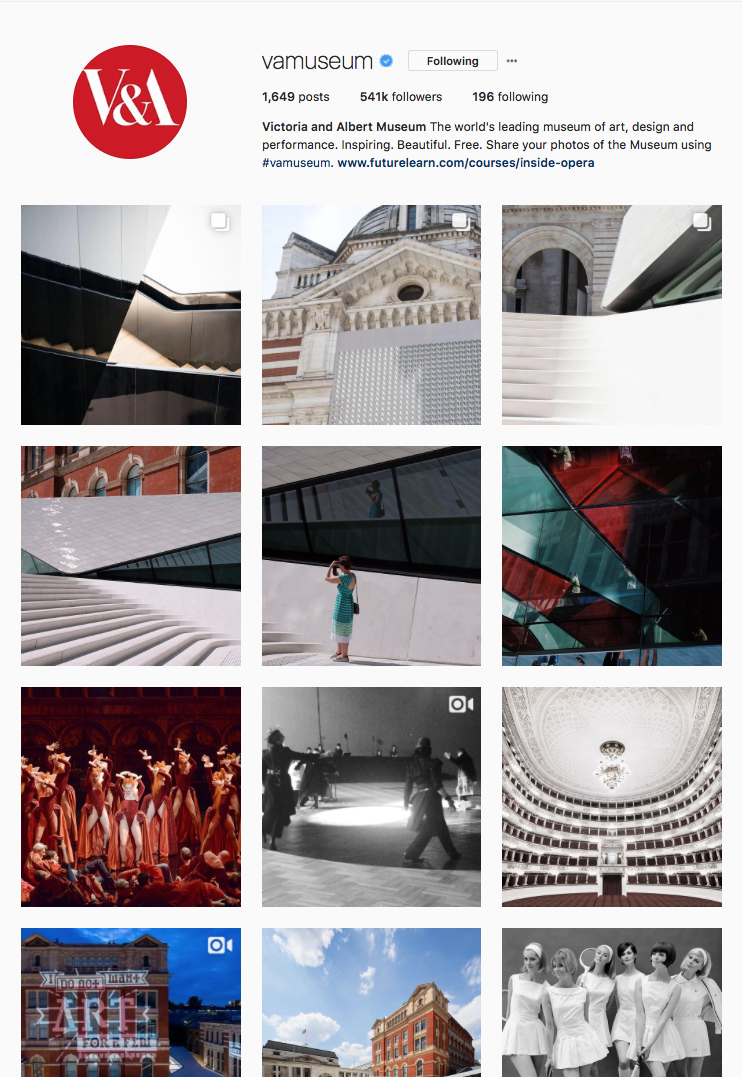 Victoria and Albert Museum Instagram Takeover