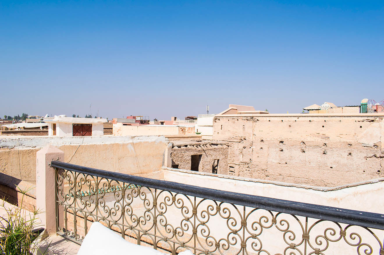 Views across the rooftops of Marrakech