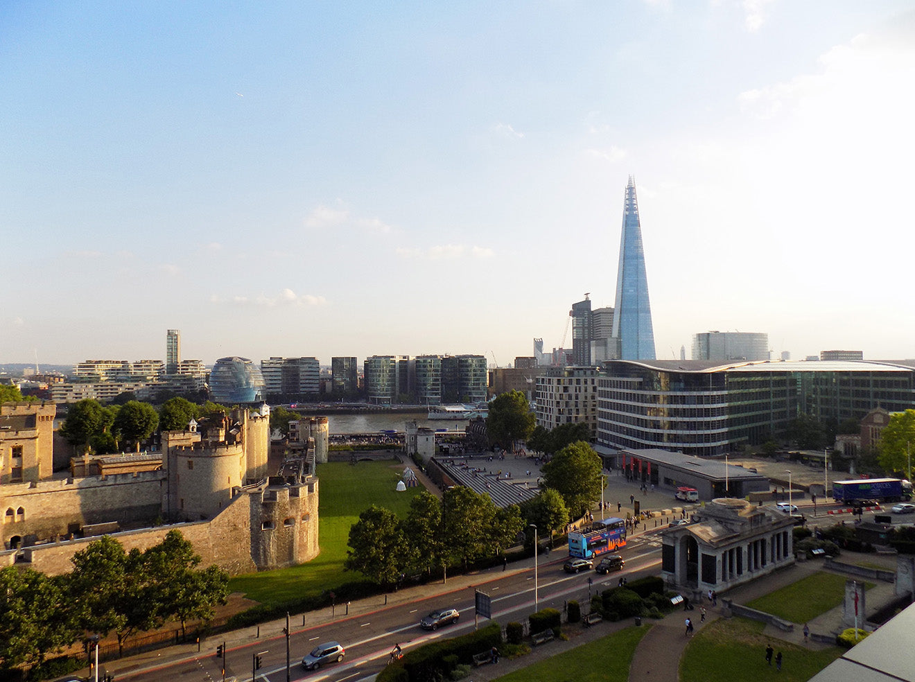 Views of the Shard and London Landmarks from CitizenM Tower of London Hotel