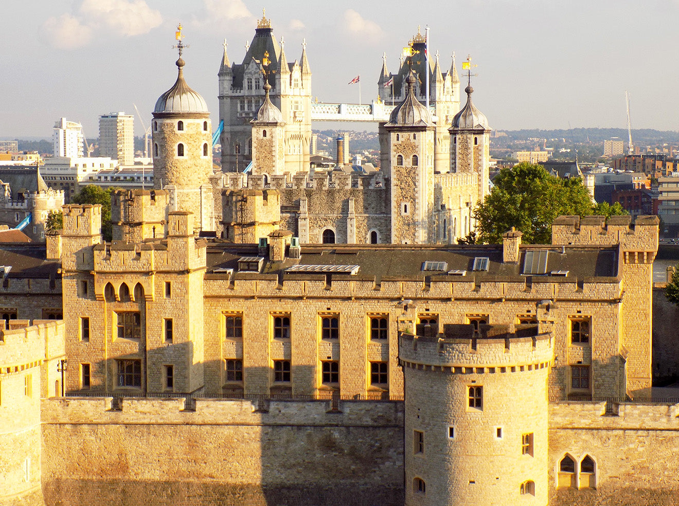 View of the Tower of London from CitizenM Hotel