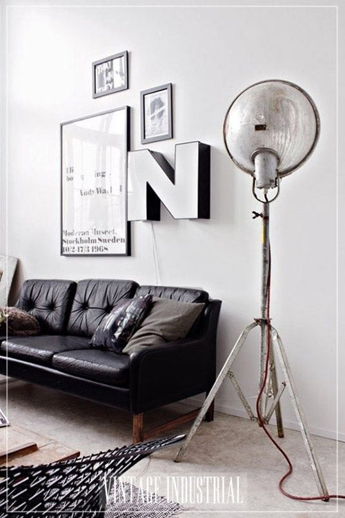 vintage industrial floor lamp