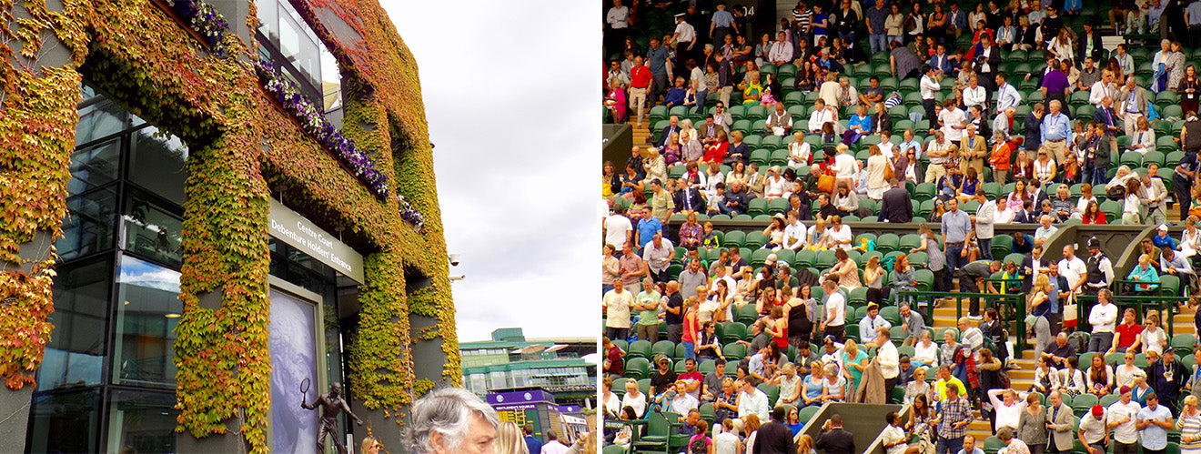 Wimbledon crowds and Centre Court images