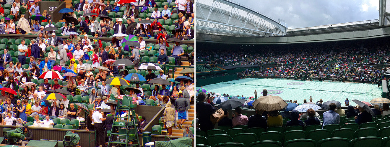 Rain at Wimbledon Centre Court
