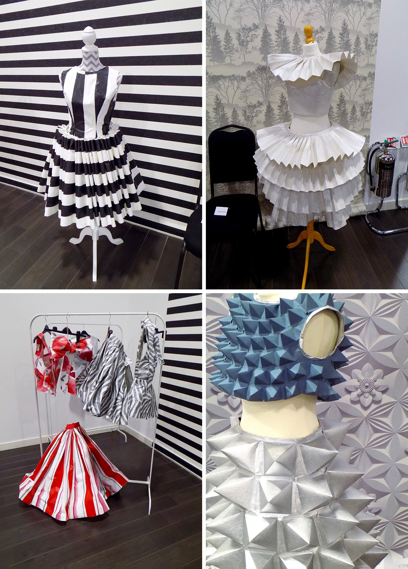 Fashion dresses made entirely from wallpaper