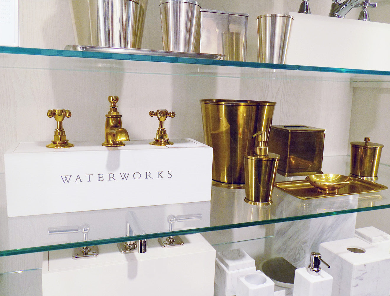 brass taps from Waterworks London