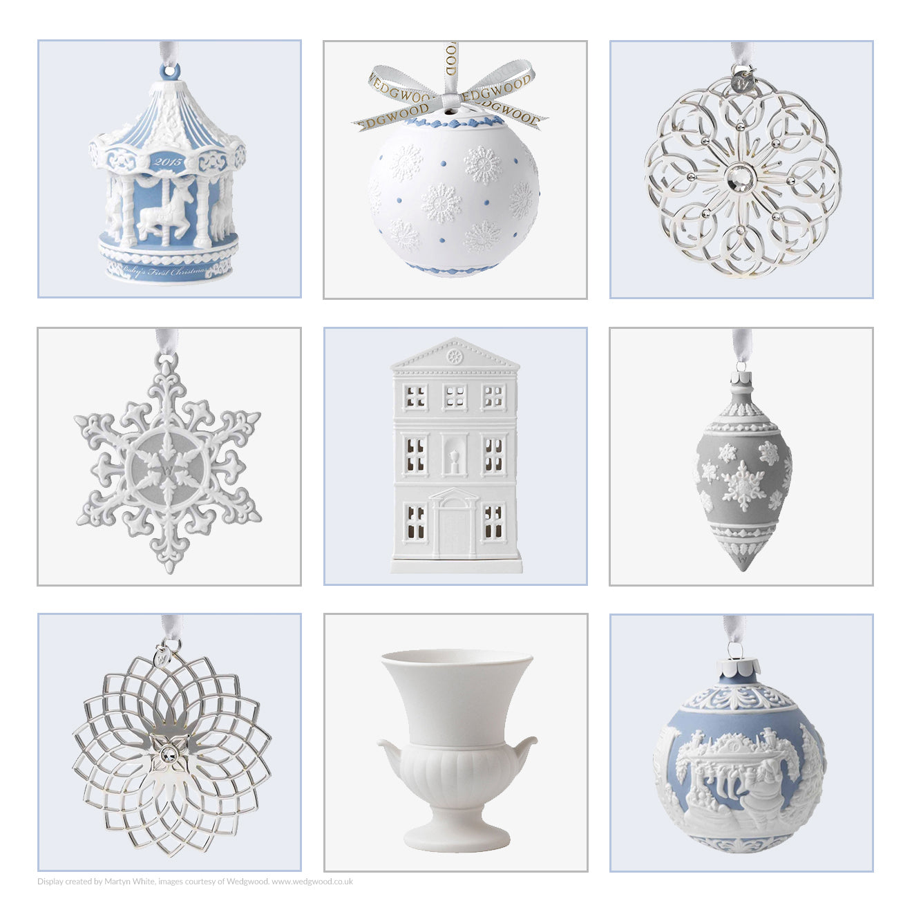 Wedgwood christmas decorations and ornaments