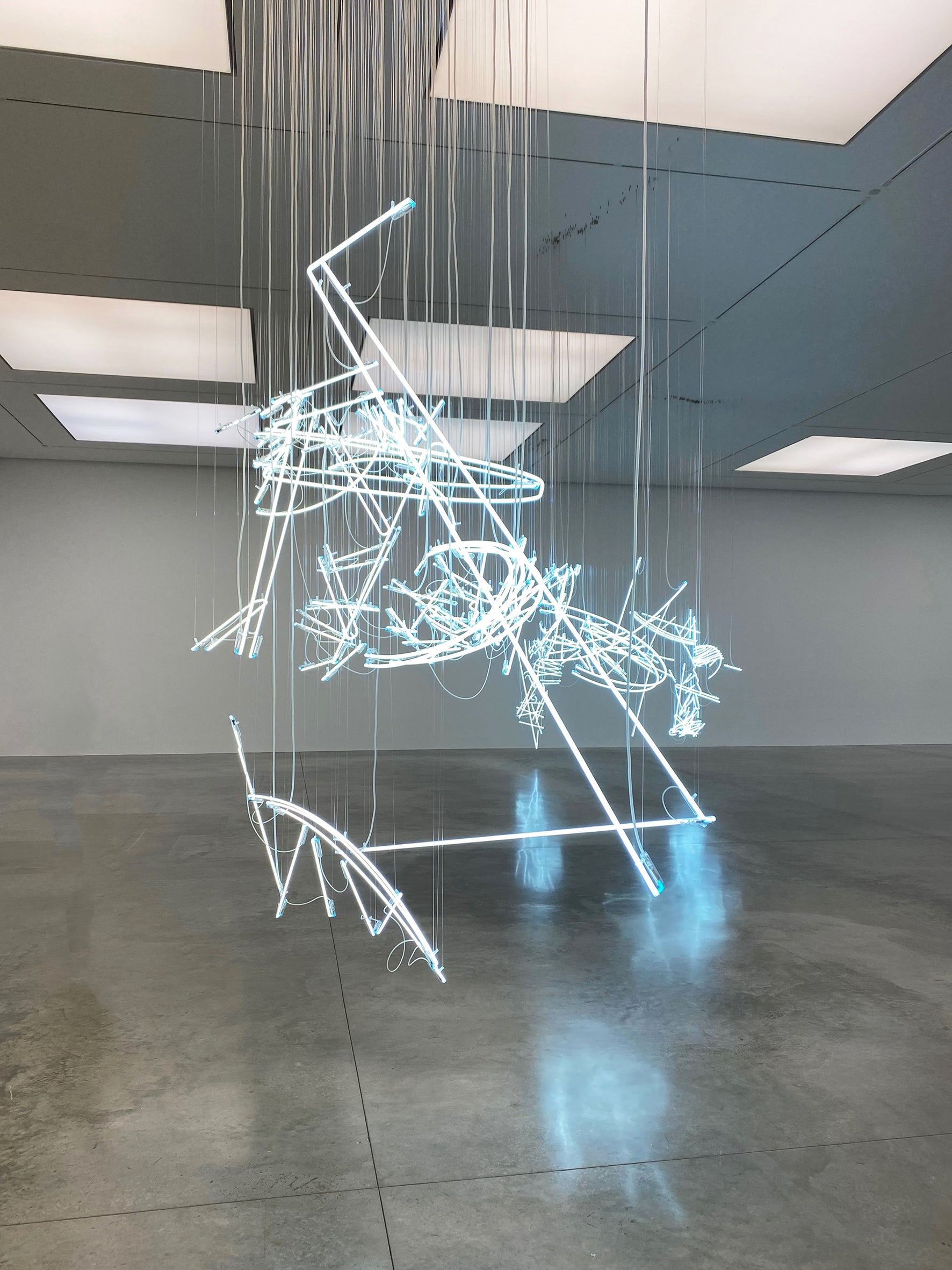 Cerith Wyn Evans No realm of thought… No field of vision exhibiting at the White Cube Gallery, Bermondsey