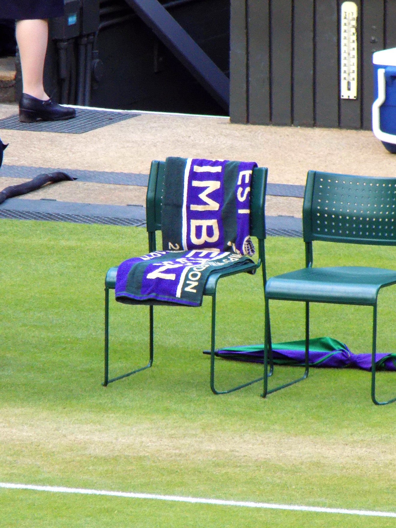 Wimbledon official mens towel on centre court