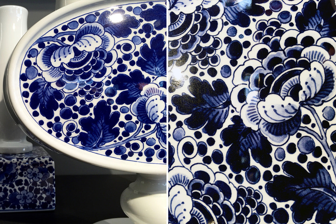 Chinese style blue and white floral ceramic home accessories from Moooi