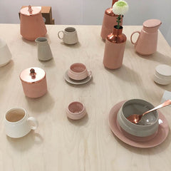 elegant pastel home accessories on display at design junction