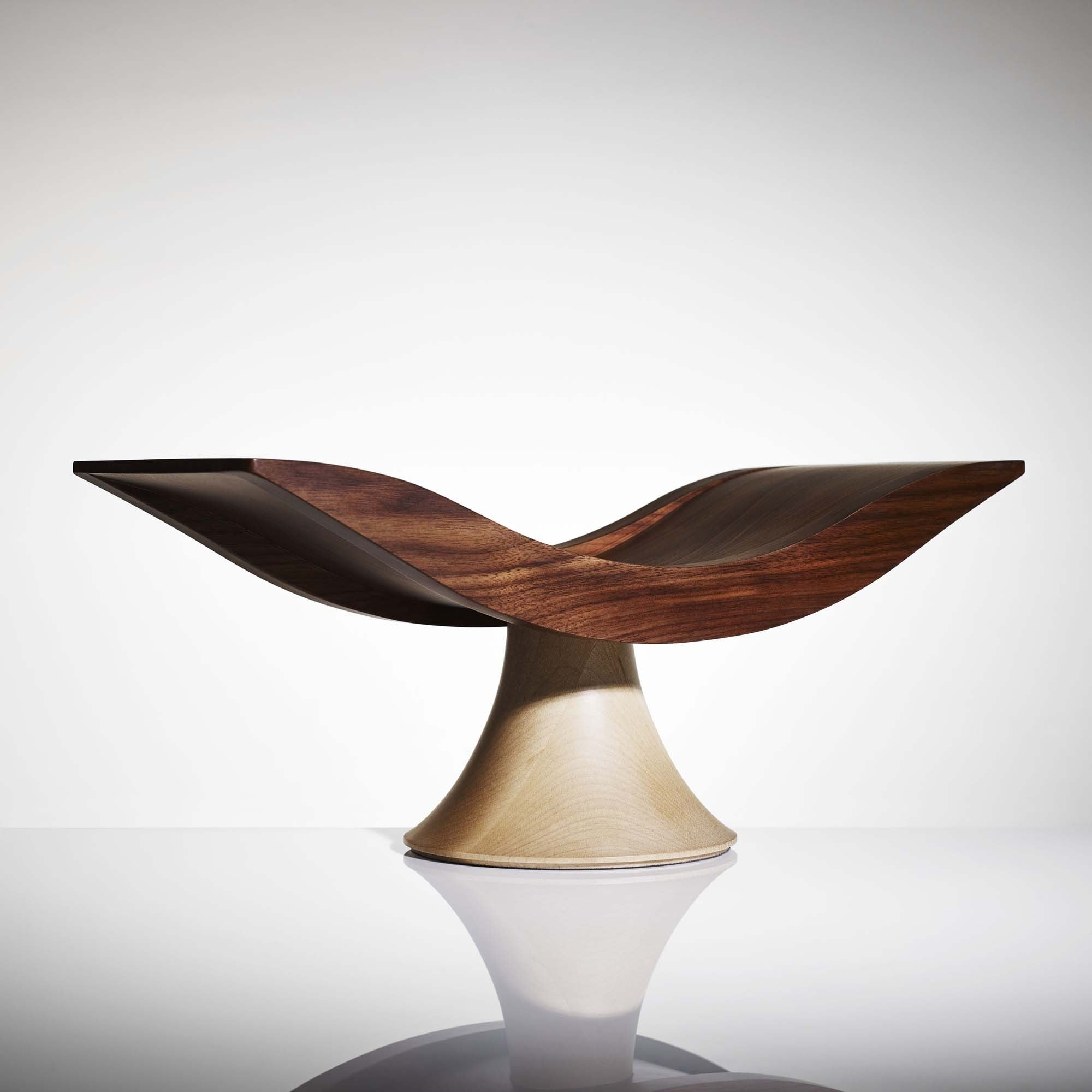 LINLEY London Crescent Fruite Bowl Walnut Wood