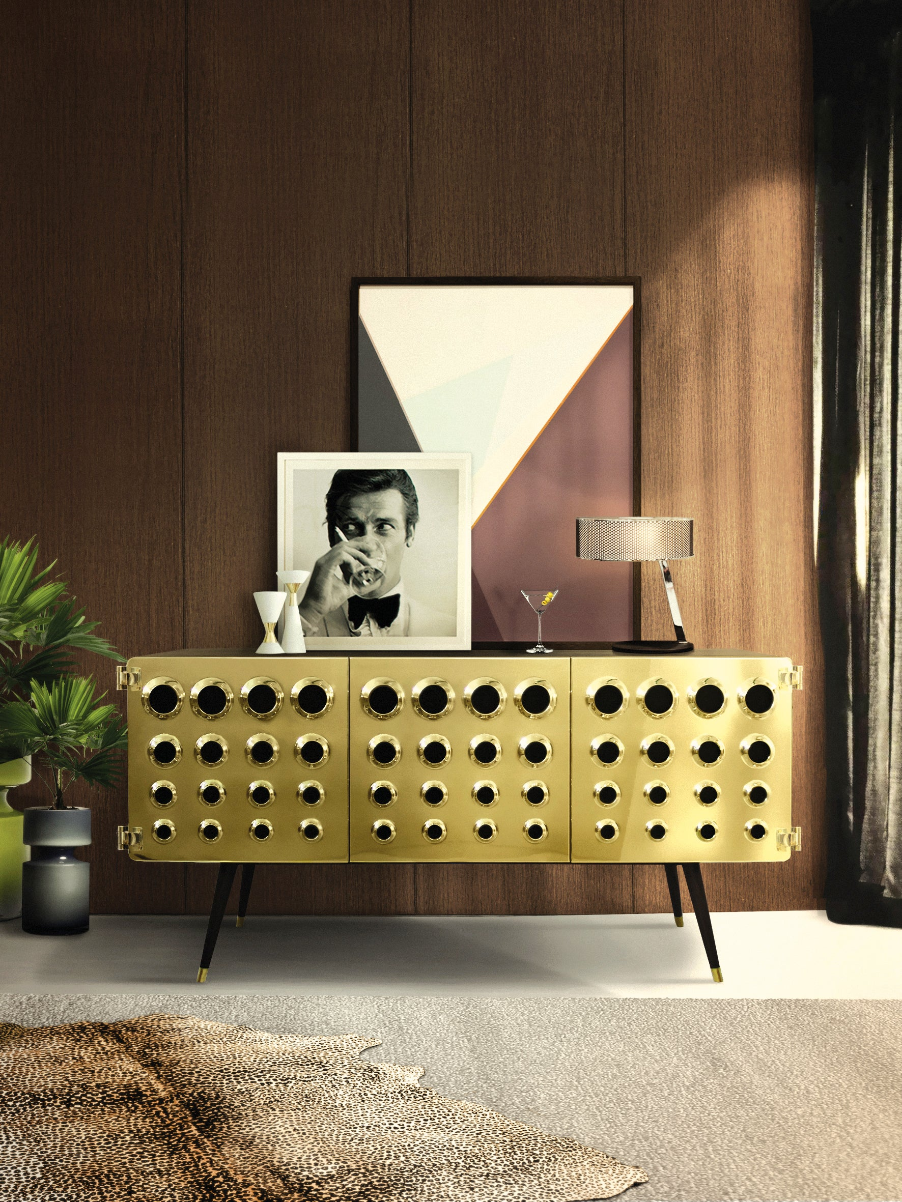 Delightfull Monocles James Bond Style Sideboard