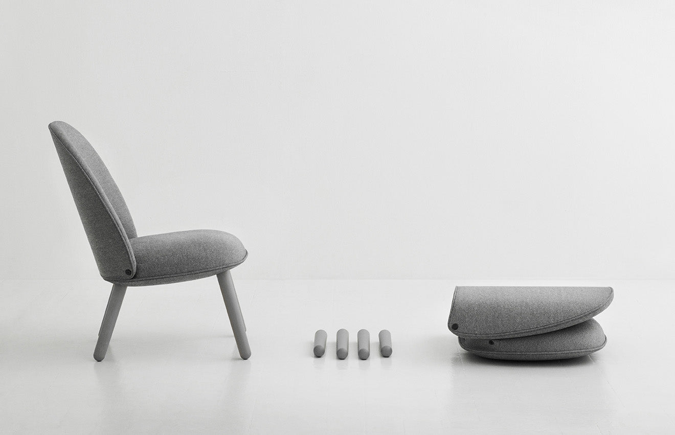 Simple flat pack luxury chair design from Normann Copenhagen