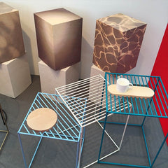 metal grid side tables at 100% Design