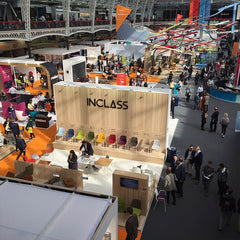 view of Inclass' stand at 100% Design