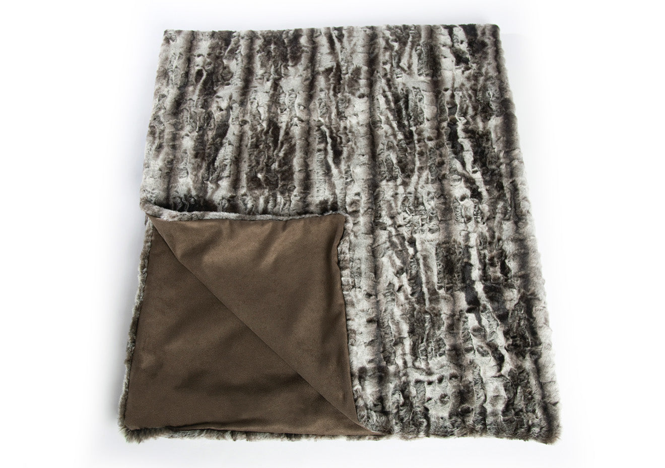 Luxdeco plush mink throw