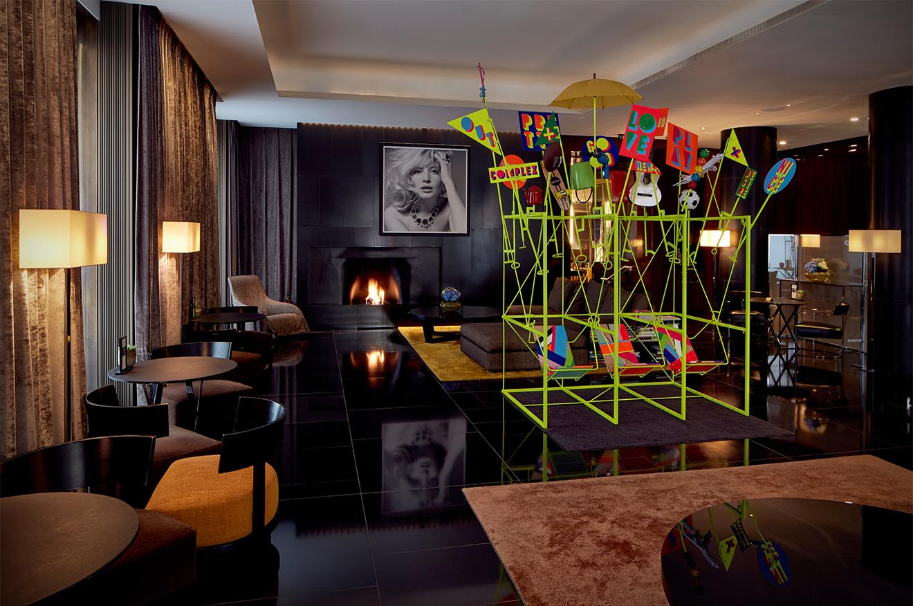 Bulgari Hotel London art installation for the London Design Festival
