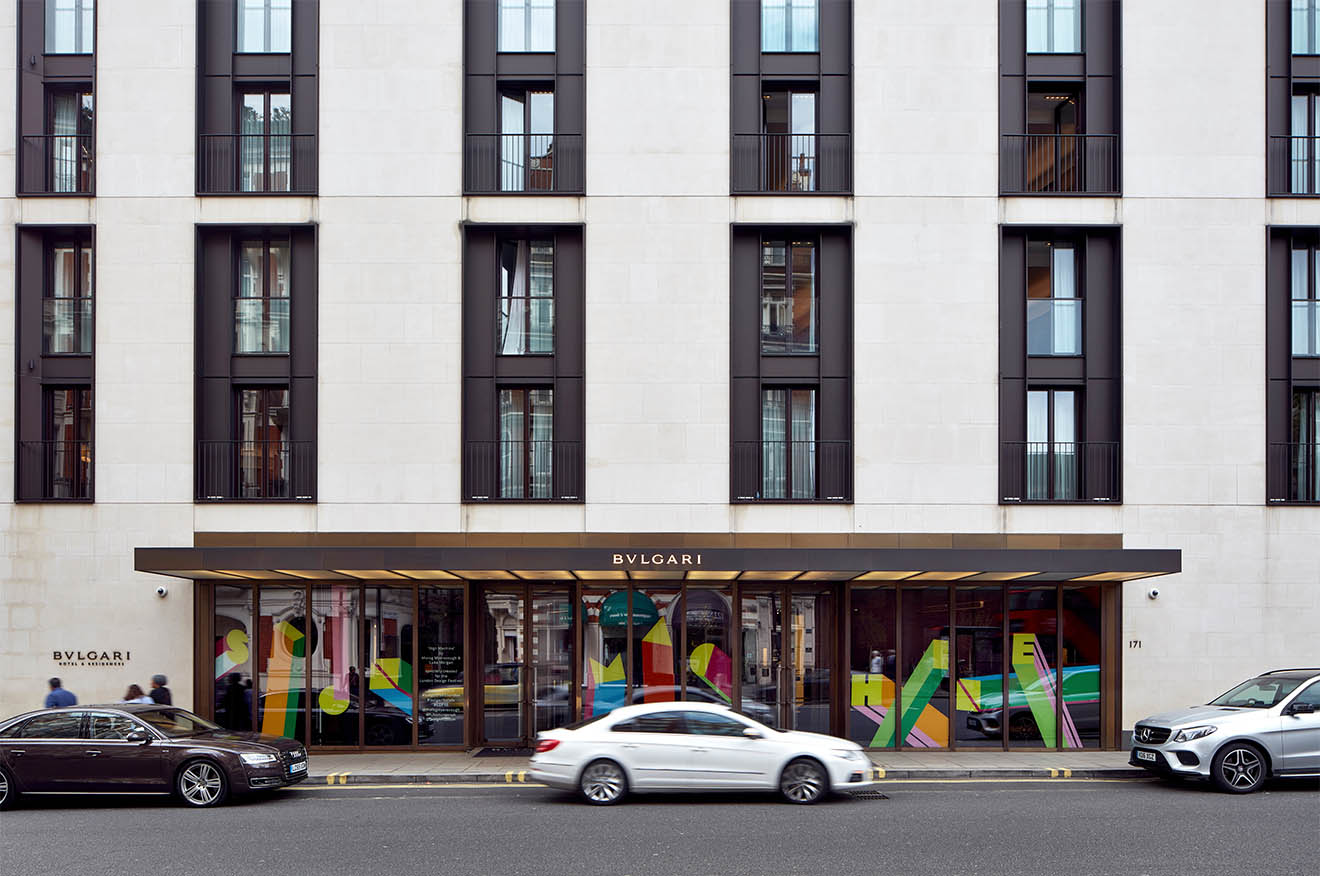 Bulgari Hotel London design festival 2016 sign machine
