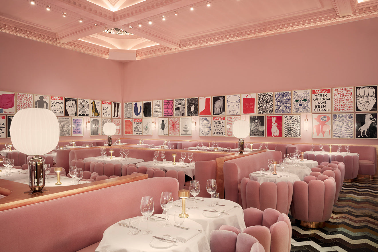 sketch London pink Gallery restaurant interior design
