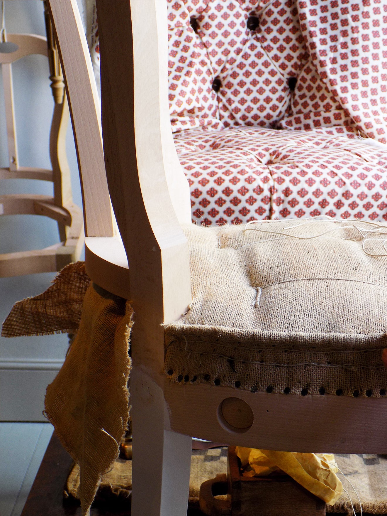 Traditional upholstery at Howe London for London Craft Week