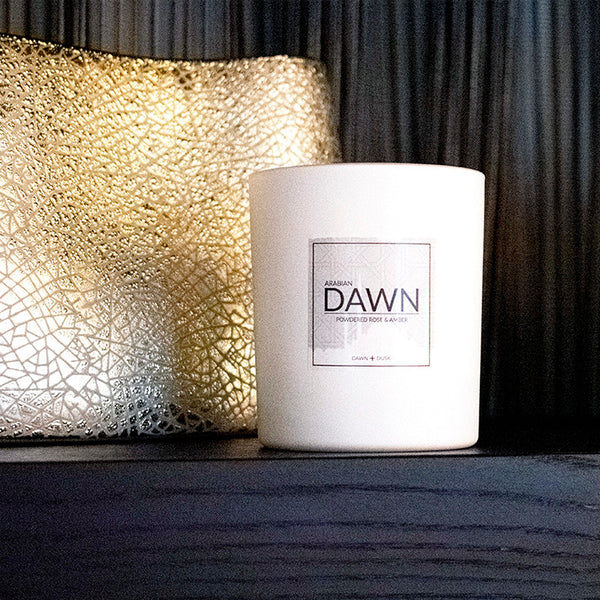 Arabian Dawn: Powdered Rose & Amber