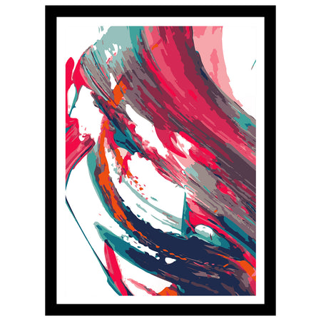 "Unite Collection - ""Athens & The Mountains"" Abstract Art Print"