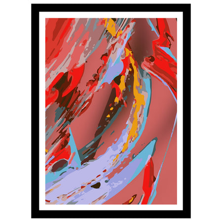 "Courting Collection - ""Dahlia"" Floral Abstract Art Print"