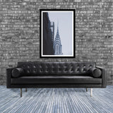 New York monochrome art print of the Chrysler building skyscraper, Manhattan in room