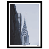 New York monochrome art print of the Chrysler building skyscraper, Manhattan