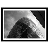 Black and white London skyscraper photography The Gherkin