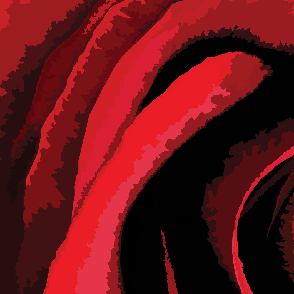 Abstract flower artwork red rose detailing
