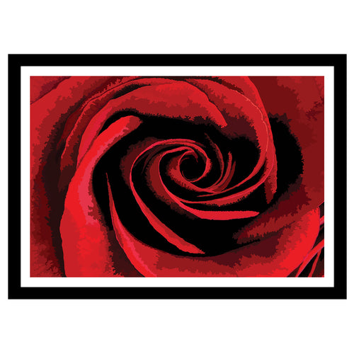 Abstract flower artwork red rose