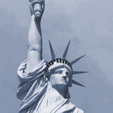 New York monochrome art print of the statue of Liberty detail