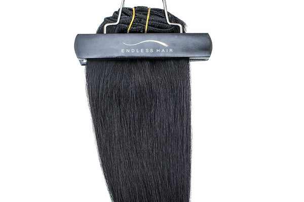 Jet Black #1 - Clip-In Hair 160g
