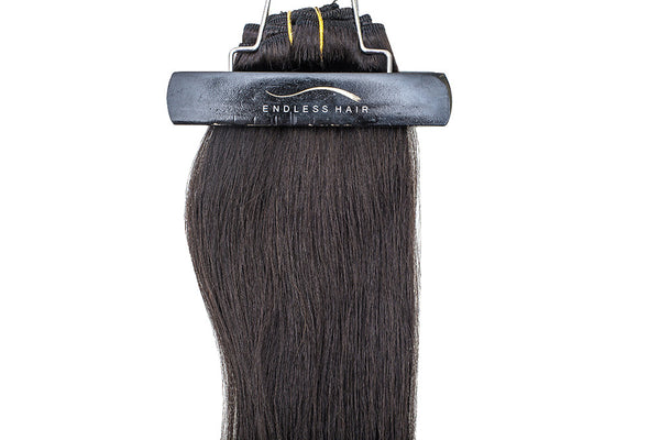 Black Brown #1B - Clip-In Hair 160g