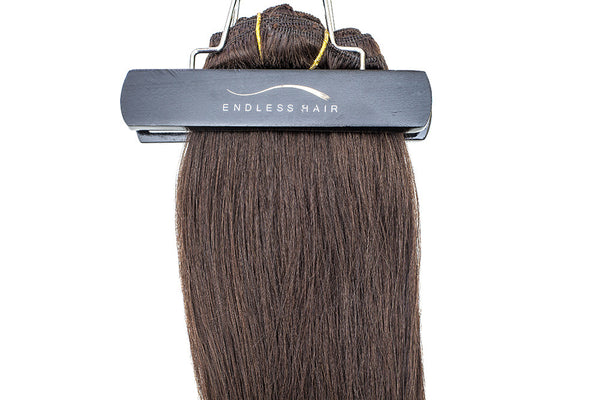 Dark Brown #2 - Clip-In Hair 160g