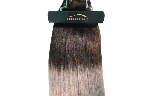 #1B / Grey Ombré - Clip-In Hair 160g