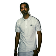 White Yëkim Polo With Black Strip