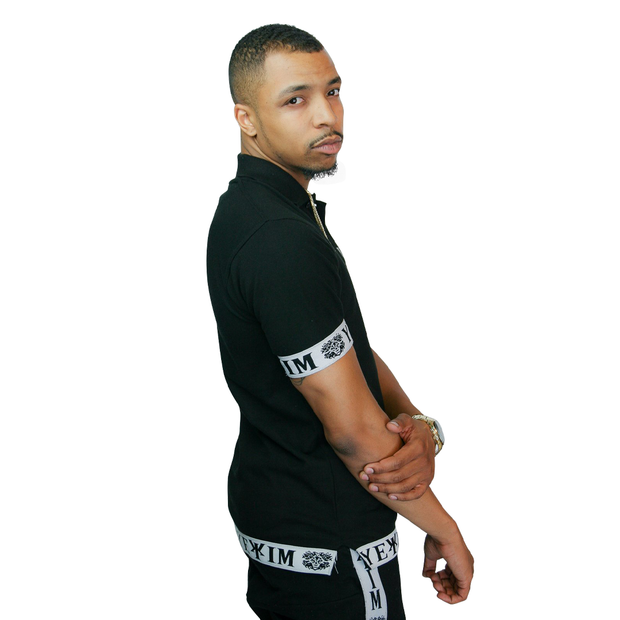 Black Yëkim Polo With White Bands