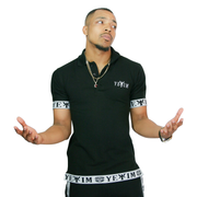 Black Y?®kim Polo With White Bands