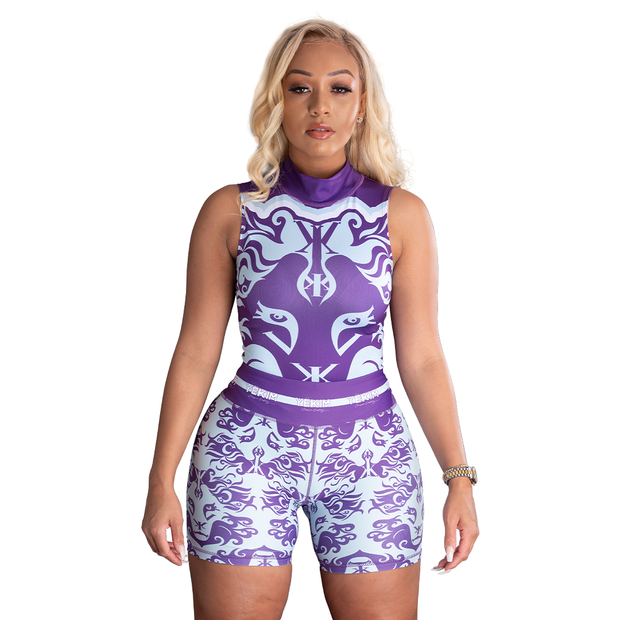 Women's Lion Face Leotard (Purple)