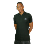 Black Yekim Polo With WhiteStrip