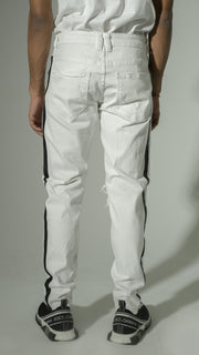 Mens White Denim with Black Lining
