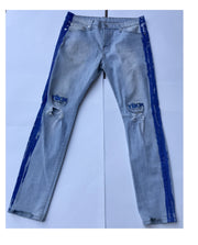 Mens Patch Denim Blue with Blue Lining Pant