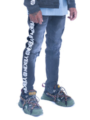 denim jeans street fashion street wear urban clothing rugged distressed classic washed destroyed ripped